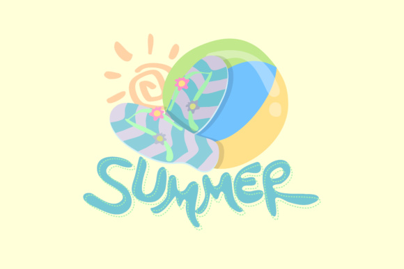 Summer Cartoon Graphic By KitCreativeStudio