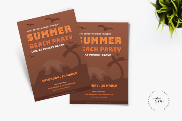Summer Party Graphic Print Templates By TMint