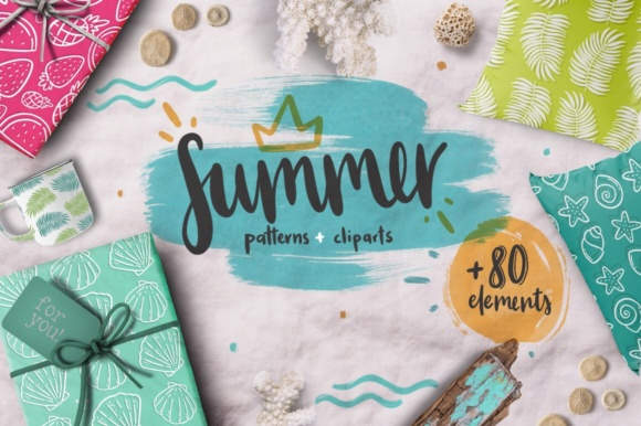 Print on Demand: Summer Lover Kit! +80 Elements Graphic Illustrations By Latin Vibes