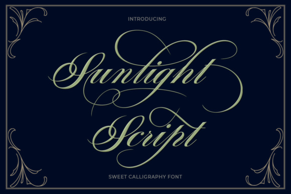 Print on Demand: Sunlight Script Script & Handwritten Font By typehill