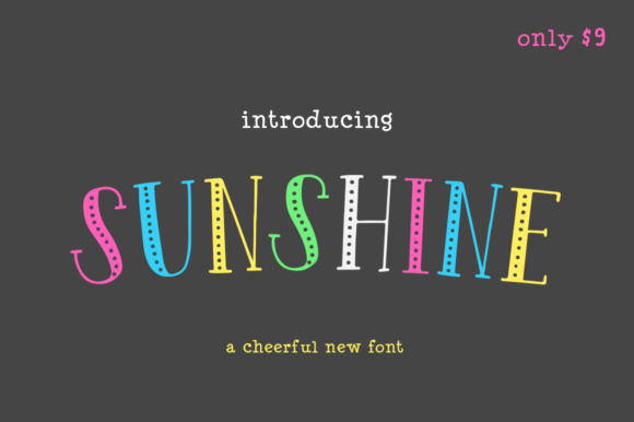 Print on Demand: Sunshine Display Font By Salt & Pepper Designs