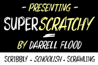 Print on Demand: Superscratchy Display Font By Dadiomouse
