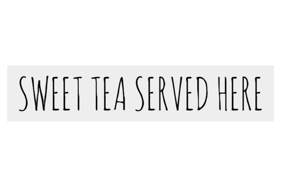 Download Free Sweet Tea Served Here Graphic By Studio 26 Design Co Creative for Cricut Explore, Silhouette and other cutting machines.