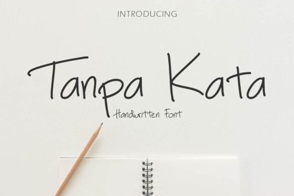 Print on Demand: Tanpa Kata Script & Handwritten Font By priaadmaja