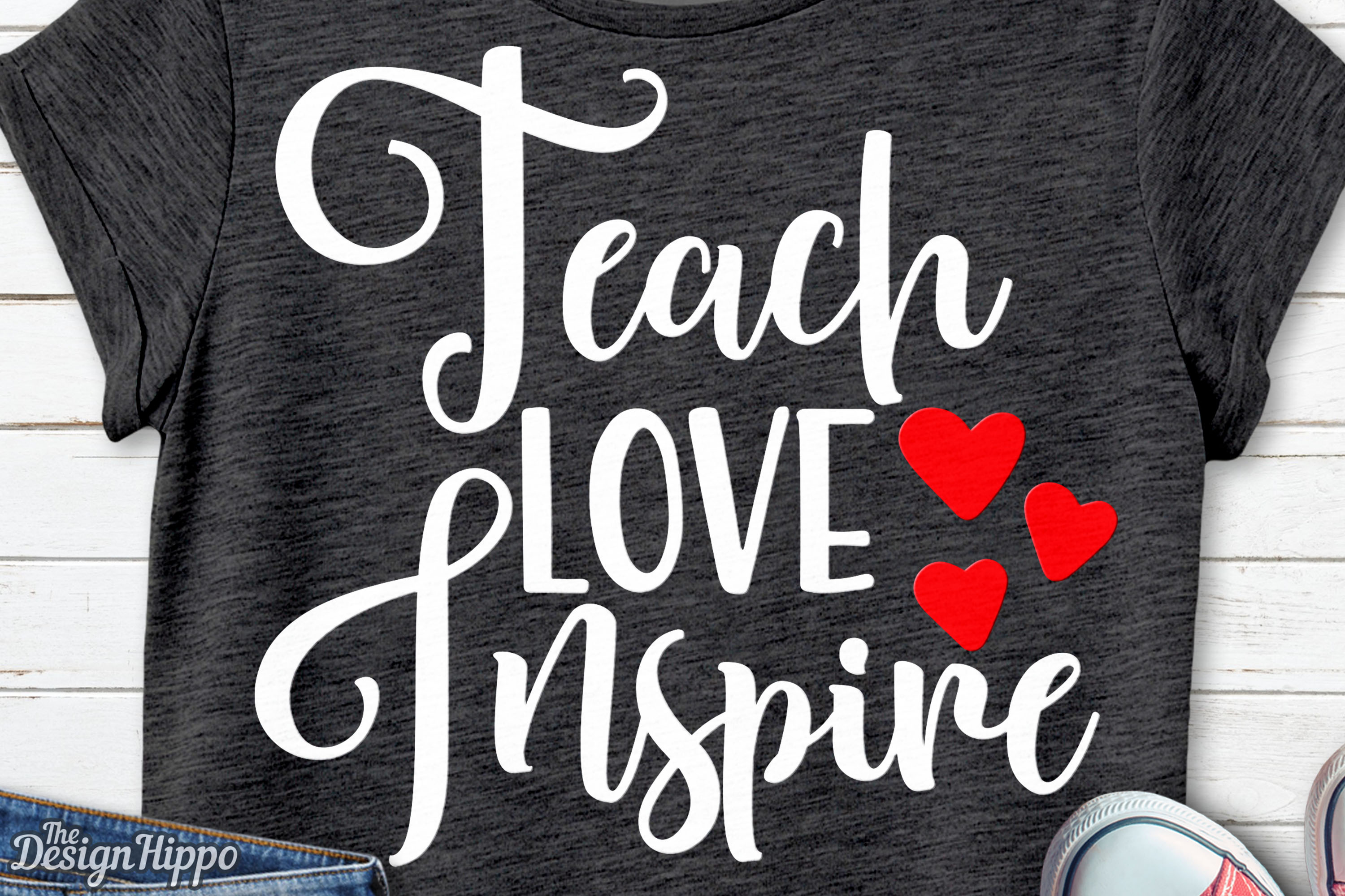 Download Free Teach Love Inspire Svg Graphic By Thedesignhippo Creative Fabrica for Cricut Explore, Silhouette and other cutting machines.