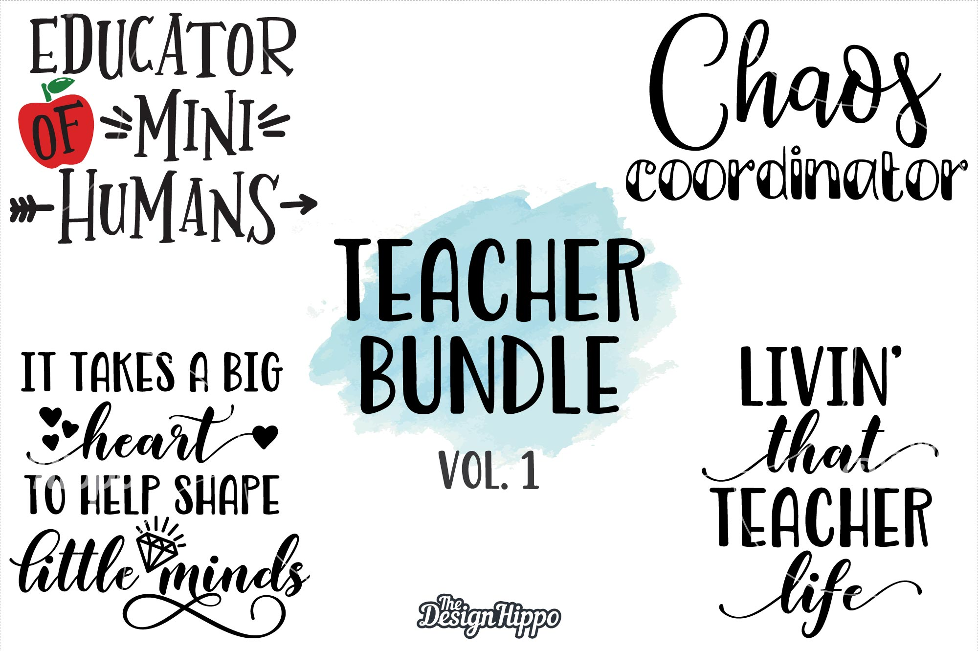 Teacher Quotes: Teacher SVG Bundle Vol 1 Graphic By Thedesignhippo