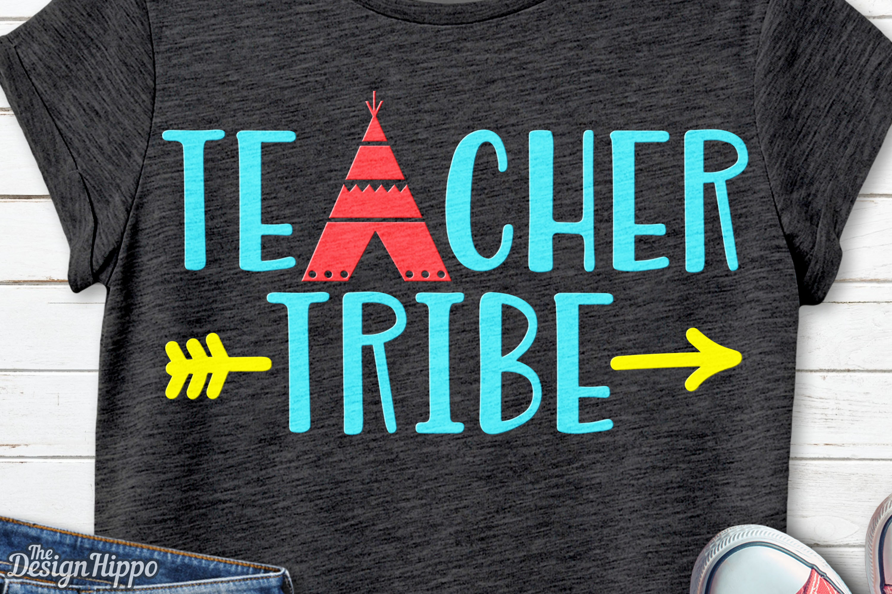 Download Free Teacher Tribe Graphic By Thedesignhippo Creative Fabrica for Cricut Explore, Silhouette and other cutting machines.