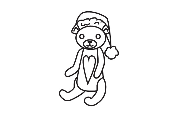 Download Free Teddybear With Christmas Hat Svg Cut File By Creative Fabrica for Cricut Explore, Silhouette and other cutting machines.