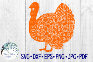 Download Free Thanksgiving Turkey Mandala Graphic By Wispywillowdesigns for Cricut Explore, Silhouette and other cutting machines.