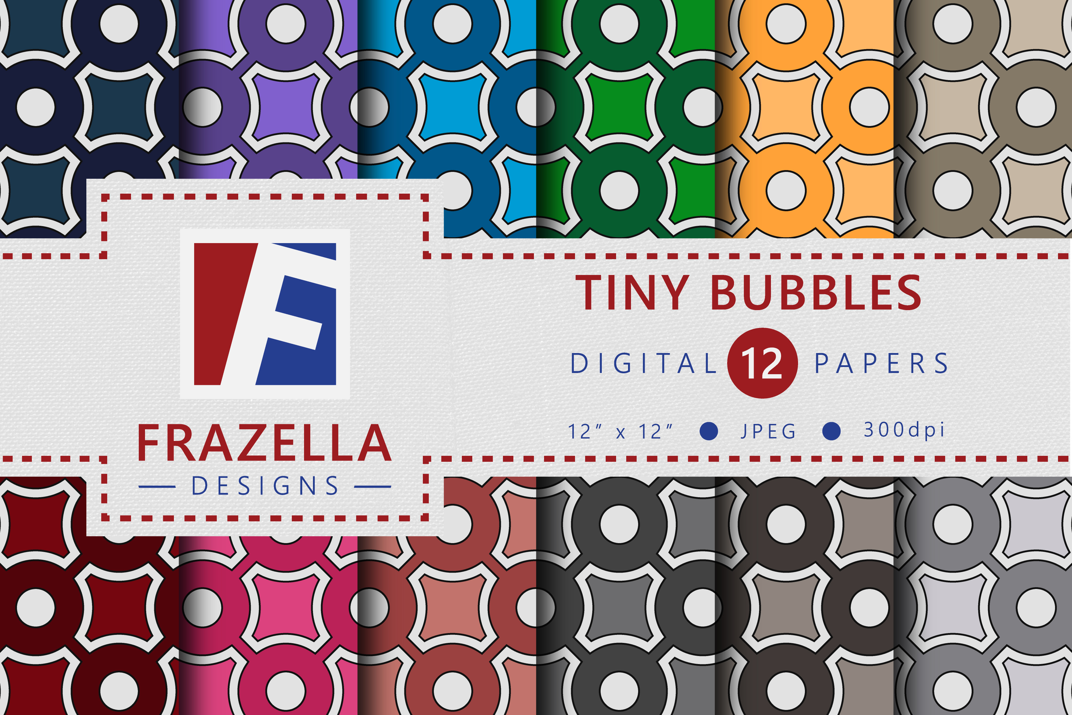 Download Free The Colorful Tiny Bubbles Digital Paper Collection Graphic By for Cricut Explore, Silhouette and other cutting machines.