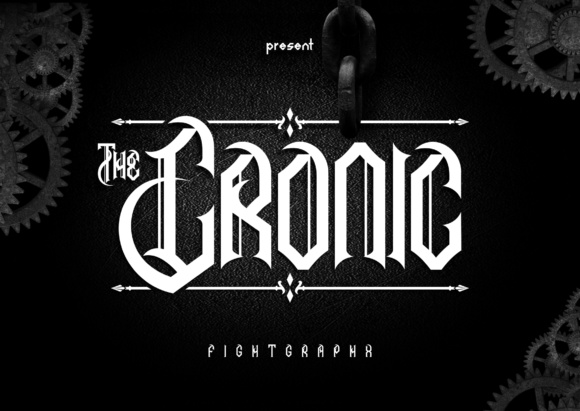 Print on Demand: The Cronic Blackletter Font By Raws_unsleep