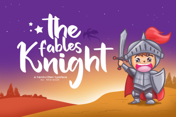 Print on Demand: The Fables Knight Script & Handwritten Font By Khurasan
