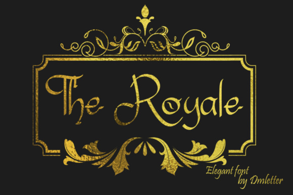 The Royale Display Font By dmletter31