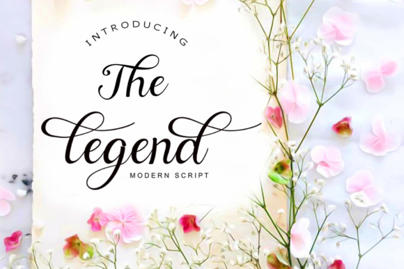 The Legend Script & Handwritten Font By ayeelastudio