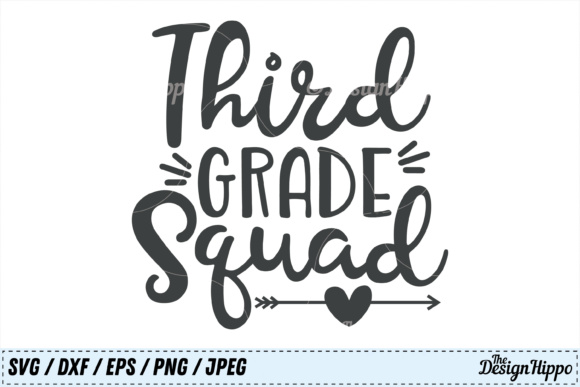 Download Free Third Grade Squad Svg Graphic By Thedesignhippo Creative Fabrica for Cricut Explore, Silhouette and other cutting machines.