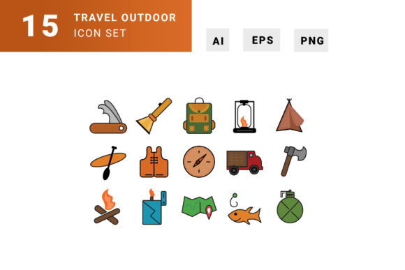 Travel Kit Icons Graphic Illustrations By TMint - Image 1