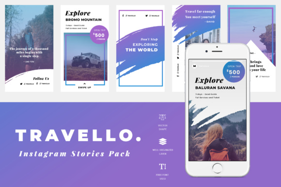 Download Free Travello Instagram Stories Grafico Por Tmint Creative Fabrica for Cricut Explore, Silhouette and other cutting machines.