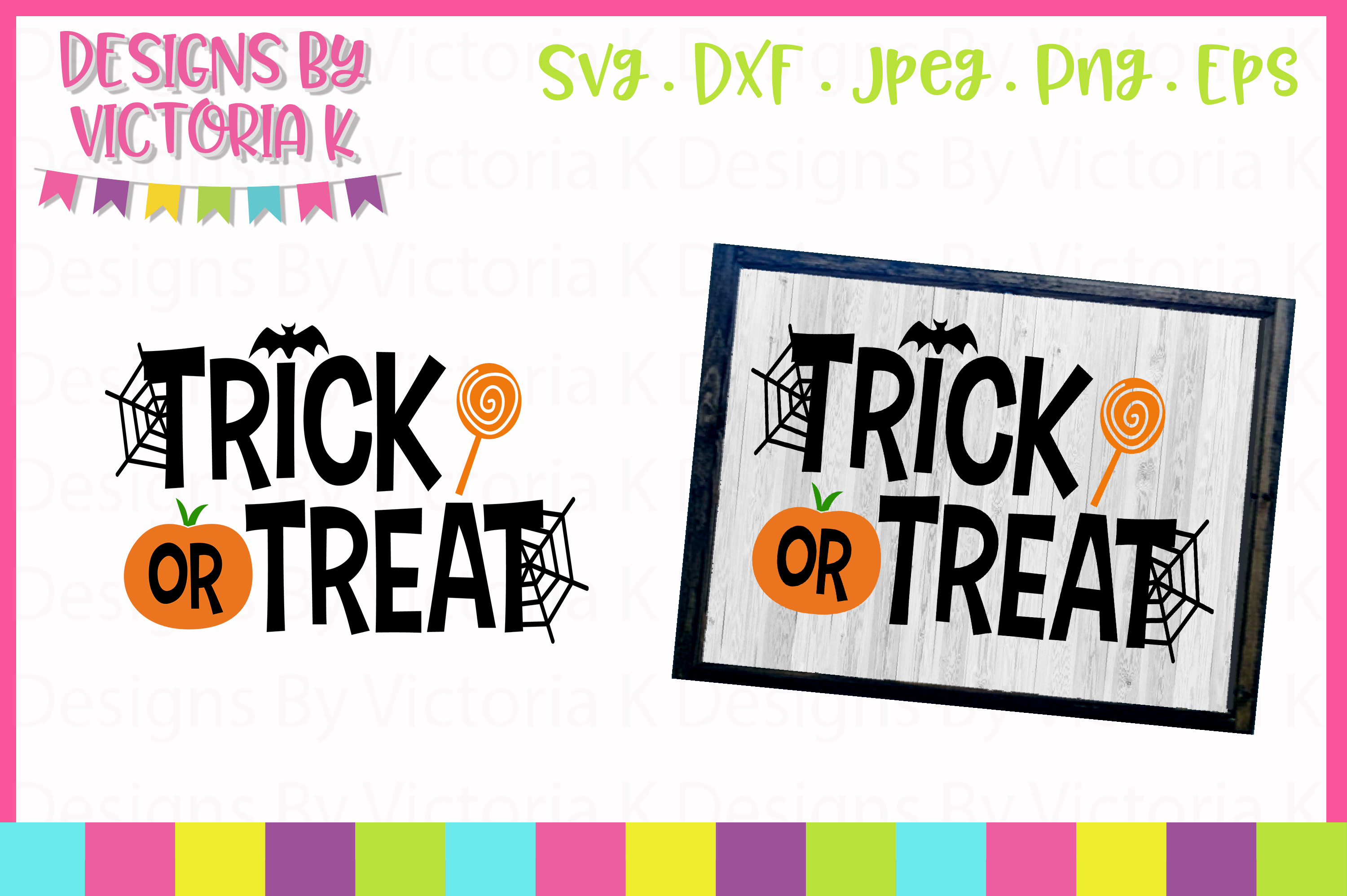 Download Free Trick Or Treat Svg Graphic By Designs By Victoria K Creative for Cricut Explore, Silhouette and other cutting machines.