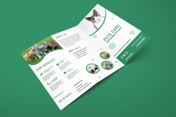 Trifold Pets Brochure Graphic Print Templates By TMint