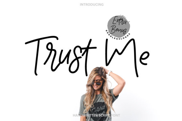 Print on Demand: Trust Me Script & Handwritten Font By PaulaType