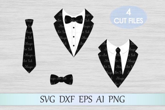 Tuxedo Graphic Crafts By MagicArtLab