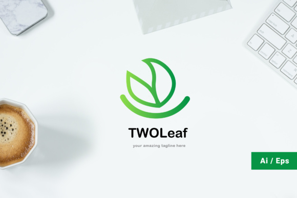 Twoleaf Logo Graphic Print Templates By TMint - Image 1