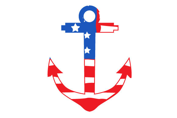 US Anchor Military Craft Cut File By Creative Fabrica Crafts