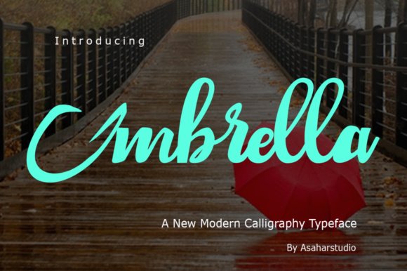 Print on Demand: Umbrella Script & Handwritten Font By AsaharStudio