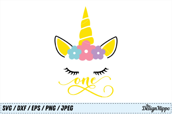 Unicorn 1st Birthday SVG