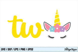 Unicorn 2nd Birthday SVG Graphic By thedesignhippo
