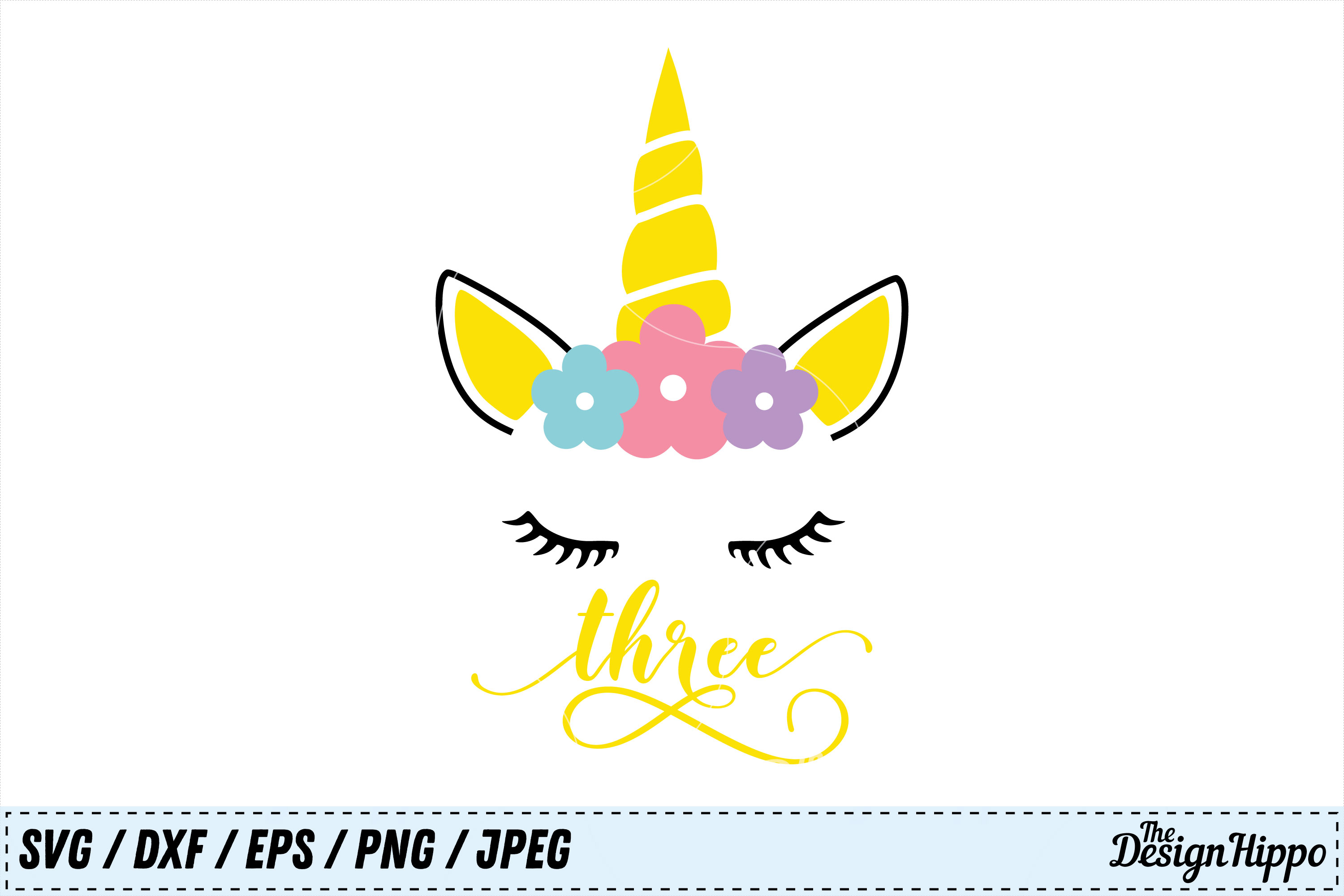 Download Free Unicorn 3rd Birthday Svg Graphic By Thedesignhippo Creative for Cricut Explore, Silhouette and other cutting machines.