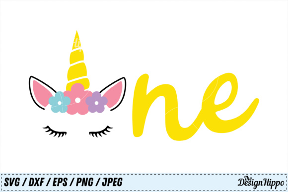 Unicorn Birthday One Svg Grafik Von Thedesignhippo Creative