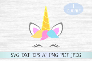 Download Free Unicorn Head Unicorn Face Graphic By Magicartlab Creative Fabrica for Cricut Explore, Silhouette and other cutting machines.