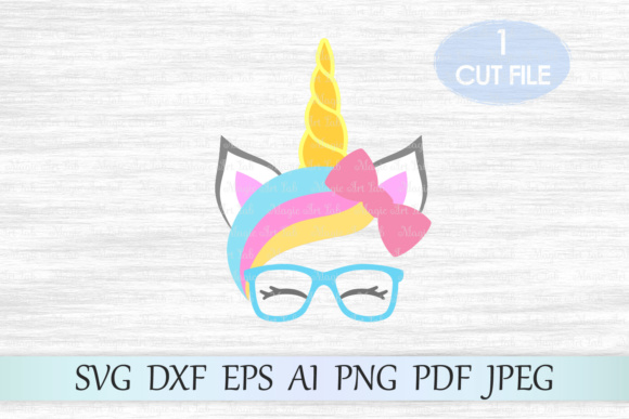 Download Free Unicorn Unicorn Head Unicorn Face Graphic By Magicartlab for Cricut Explore, Silhouette and other cutting machines.
