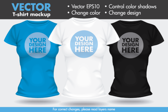 vector t shirt template mock up female woman graphic by pedro