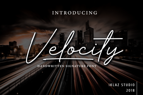 Print on Demand: Velocity Script & Handwritten Font By IklazStudio