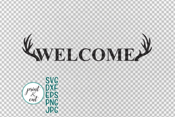 Vertical and Horizontal Welcome Sign Graphic Crafts By Cornelia - Image 2