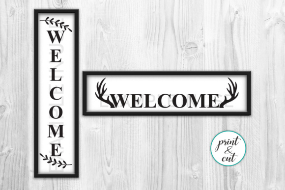 Vertical and Horizontal Welcome Sign Graphic Crafts By Cornelia - Image 3