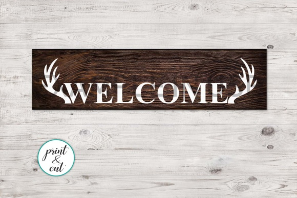 Vertical and Horizontal Welcome Sign Graphic Crafts By Cornelia
