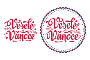 Download Free Vesele Vanoce Czech Christmas Greeting Cards Graphic By Zoyali for Cricut Explore, Silhouette and other cutting machines.