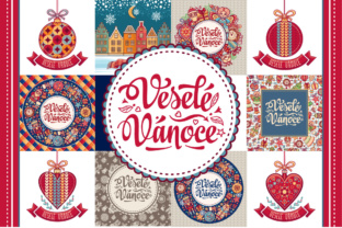 Download Free 16 Czech Christmas Greeting Cards Graphic By Zoyali Creative for Cricut Explore, Silhouette and other cutting machines.