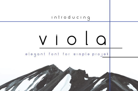 Print on Demand: Viola Sans Serif Font By jehansyah251