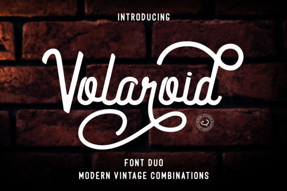 Print on Demand: Volaroid Duo Script & Handwritten Font By Din Studio