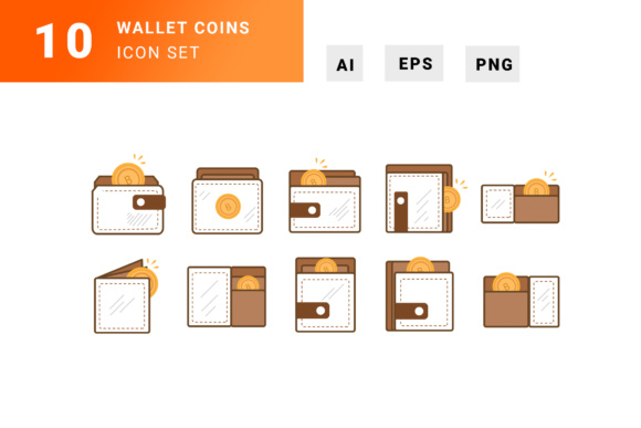 Wallet Icon Grafik Illustrationen von TMint