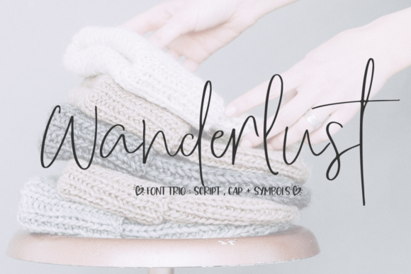 Print on Demand: Wanderlust Trio Script & Handwritten Font By PaulaType