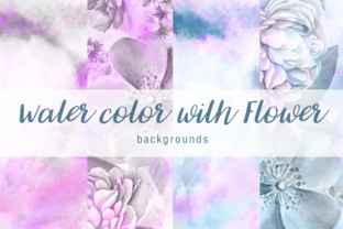 Print on Demand: Water Color with Flower Background Vol.3 Graphic Textures By vito12