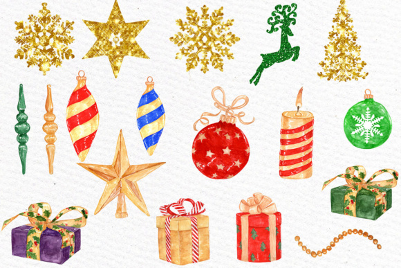 Watercolor Christmas Clipart Graphic Illustrations By LeCoqDesign - Image 2