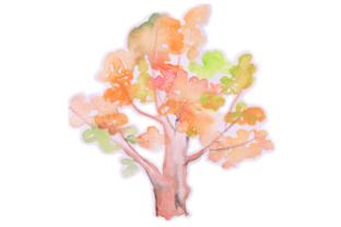 Watercolor Fall Tree Fall Craft Cut File By Creative Fabrica Crafts