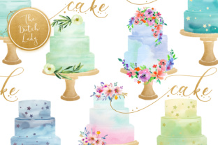 Watercolor Layered Wedding Cake Clipart Graphic By daphnepopuliers