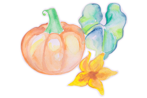 Watercolor Pumpkin Fall Craft Cut File By Creative Fabrica Crafts